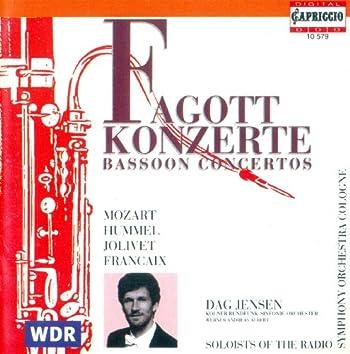 Mozart, W.A.: Bassoon Concerto, K. 191 / Hummel, J.N.: Bassoon Concerto, Woo 23 / Jolivet, A.: Bassoon Concerto