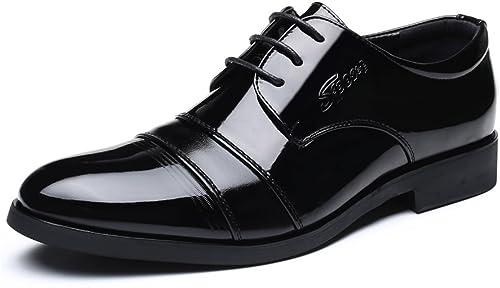 SRY-chaussures Oxfords Classiques pour Hommes à à Talon Plat et à Bout Pointu New Affaires chaussures (Couleur   Noir, Taille   43 EU)  vente avec grande remise