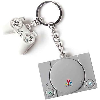 Difuzed PlayStation - Portachiavi in gomma 3D per console e controller