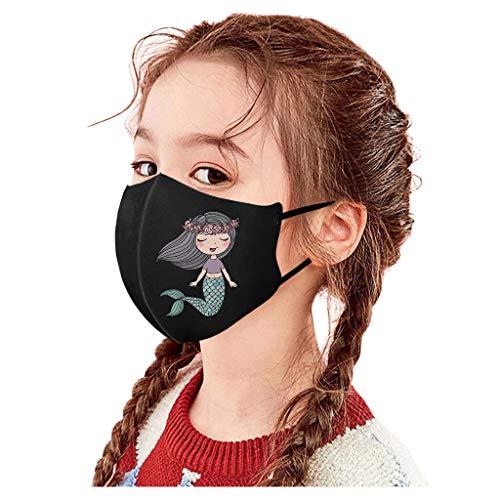 PPangUDing Kinder Junge Mädchen Mundschutz Waschbar Wiederverwendbar Baumwolle Atmungsaktive Staubdicht Multifunktional Halstuch Bandana Schlauchschal