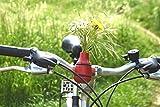 meindekoartikel Lifestyle Fahrradvase Frieda (rot) - Der Frühling kommt Fahrradlenker Blumenvase Fahrradtour H 9 cm