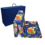 PEKITAS Colchón Plegable Cuna 60x120 Cm Grosor 6 Cm Bolsa Viaje Funda lavable desmotable,Color Estampado floral,Fabricado En España