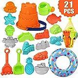 balnore Kinder 21 Stück Strand Sandspielzeug Set mit Schwimmring Sandkasten Spielzeug Set...
