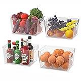 Juego de 4 Caja de Almacenamiento Transparentes para Refrigerador, Cocina,...