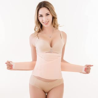 3 in 1 Postpartum Support Belt Breathable Wrap for Recovery Belly Waist Pelvis Shapewear Slimming Band (Pink)