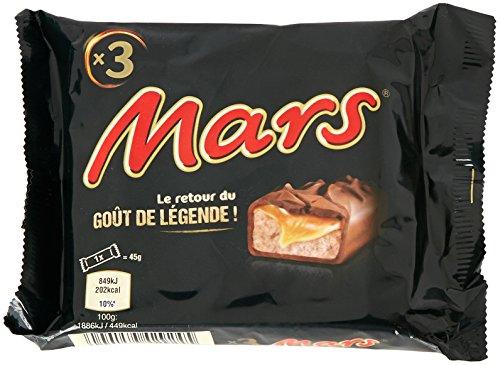 M&M'S Snack Mars Chocolate 3 Unidades , 1 x 140 g