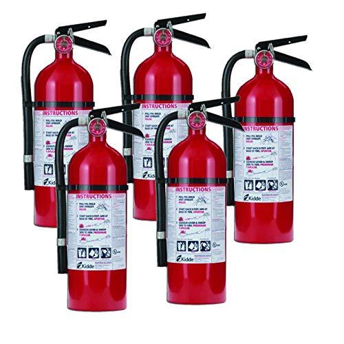 Kidde 21005779 Pro 210 Fire Extinguisher, ABC, 160CI, 4 lbs, 5 Pack