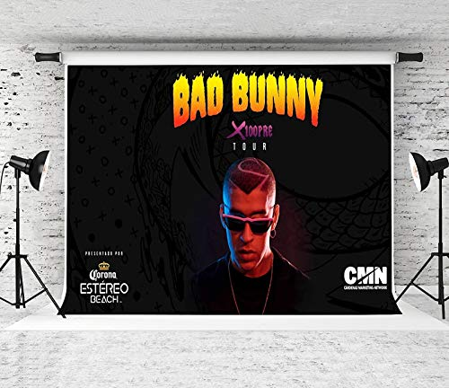 Bad Bunny Poster Background Famous Singer Photography Backdrop For Adult Kids Birthday Party Supplies Bedroom Wall Decorations