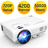 DR. J Professional Latest Upgrade 4200 LUX Portable Video Projector Native 720P Support