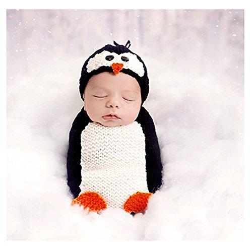 Tee-Mo Unisex Newborn Baby Photography Props Cute Penguin Sleeping Bag Halloween Costume (Penguin)