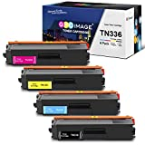 GPC Image Remanufactured Toner Cartridge Replacement for Brother TN336 TN315 TN310 TN331 Toner Cartridge to use with MFC-L8600CDW MFC-L8850CDW HL-L8350CDW HL-L8350CDWT HL-4150CDN MFC-9970CDW (4-Pack)