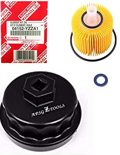 Genuine Oil Filter with Wrench ASPG ZTOOL Premium for 2.5L 3.5L to 5.7L Engines - Perfect for Camry, RAV4, Highlander, Sienna and More - Fits 64mm Cartridge Style Oil Filter Housings