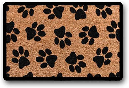 Yolocal - Felpudo con Estampado de Huellas de Perro, Felpudo de Bienvenida, Felpudo para Exteriores, Gato, Felpudo de Perro o mamá, 45 x 75 cm