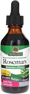 Nature's Answer Rosemary Leaf Supplement with Organic Alcohol, 2-Fluid Ounces   Promotes Mental Clarity   Improves Healthy...
