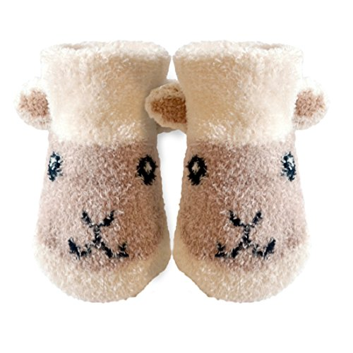 Patrick Francis Ireland Kids Woolly Sheep Face Booties, Cream Colour