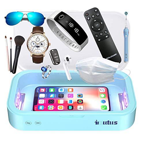 IMUTUS UV-Telefon Lichtbox Telefon Aromatherapie Multifunktion Große Kapazität für iPhone Android Smartphones Schlüssel Uhren Make-up Pinsel, Masken, Schlüssel, Bürstenkopf und tägliche Desinfektion