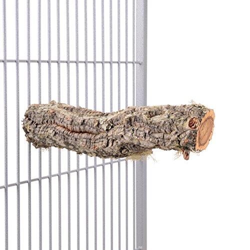 HappyBird ® | Natur Kork Vogel-Sitzstange - Large für Papageien, kakadus und Aras