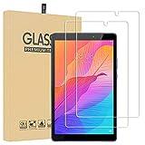 Lusee 2 Piezas Protector de Pantalla para Huawei MatePad T8 8.0 Tablet Cristal Vidrio Templado [Dureza 9H] [Alta Definición] Resistente a los arañazos/Anti-Huellas 2.5D Protector de Pantalla