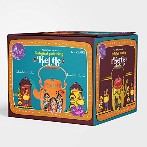 Asian Hobby Crafts Make Your Own Kalighat Painting Kettle DIY Activity Box for Kids and Adults