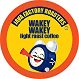 Java Factory Coffee Pods Light Roast Coffee for Keurig K Cup Brewers, Wakey Wakey, 80 Count