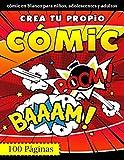 Crea tu propio cómic: 100 plantillas de cómics en blanco - Regalos para niños, adolescentes y adultos - Cuaderno de dibujo para adultos y niños