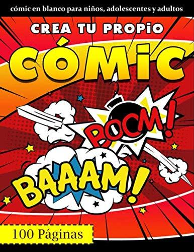 Crea tu propio cómic: 100 plantillas de cómics en blanco - Regalos...