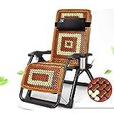 ZEFENG FENGZE Home Leisure Chair - Sun Lounger Faltstuhl Office Siesta Sessel Casual Sessel Einstellbare Winkel Sonnenliegen Gartenstuhl Sommer Strandstuhl Wechselkühlung Bambus Matte (Color : Black)