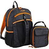 Fuel Backpack & Lunch Bag Bundle, Black/Blaze Orange/Snake Print