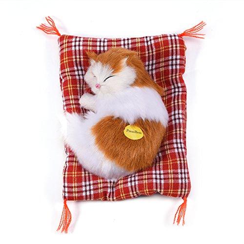 Simulatie Katten Schattige slapende kat Kinderen speelgoed Pluche geluid Speelgoed Gevulde pop Woondecoratie Simulatie Pop Dierlijke pop Cadeau voor kinderen Baby