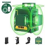 Offerts Féte -10€ | POPOMAN Nivel Láser Verde 45m, 3x360° Profesional Línea Laser, USB Carga,...