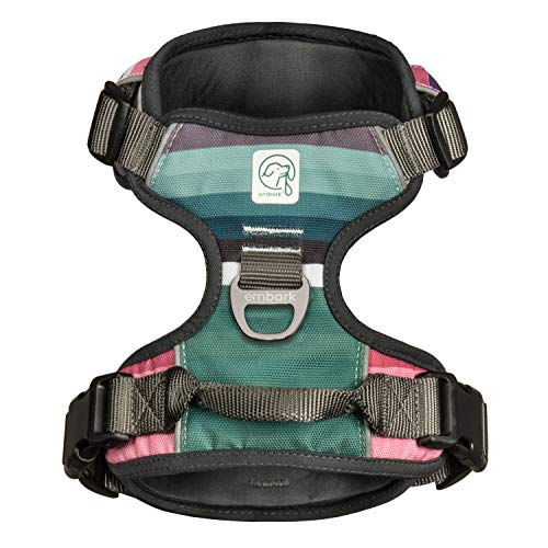 Embark Urban Dog Harness, Easy On and Off with Front and Back Leash Attachments & Control Handle - No Pull Training, Size Adjustable and Non Choke (Medium, Baja)