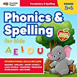 Phonics and Spelling for Kids!: Develop Foundational Skills for Reading, Vocabulary, and Spelling Success: Teacher Approved Exercises for Practice in the Classroom, At Home, & On the Go: Grades 2-4