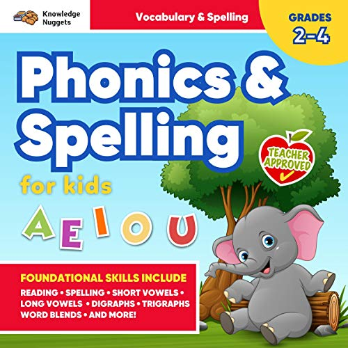 Phonics and Spelling for Kids!: Develop Foundational Skills for Reading, Vocabulary, and Spelling Success audiobook cover art