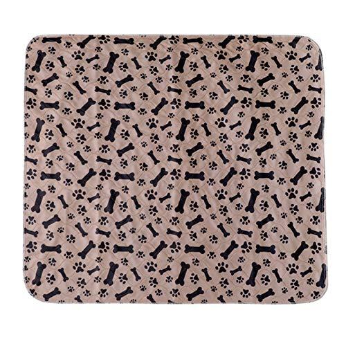 Almohadilla reutilizable para orina para mascotas, esterilla lavable para pañales para perros y gatos, 3 capas absorbentes para perros, almohadillas para pañales con estampado de pata de hueso para