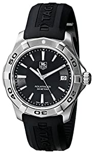 TAG Heuer Men's WAP1110.FT6029 Aquaracer Black Watch Review and Reviews and review