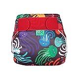 TotsBots - Pannolino da nuoto riutilizzabile, taglia 1, colore: Nero con meduse multicolore