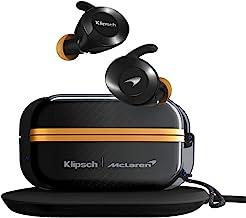 Klipsch T5 II True Wireless Sport Earphones McLaren Edition with Dust/Waterproof Case & Earbuds, Best Fitting Ear Tips, Ea...