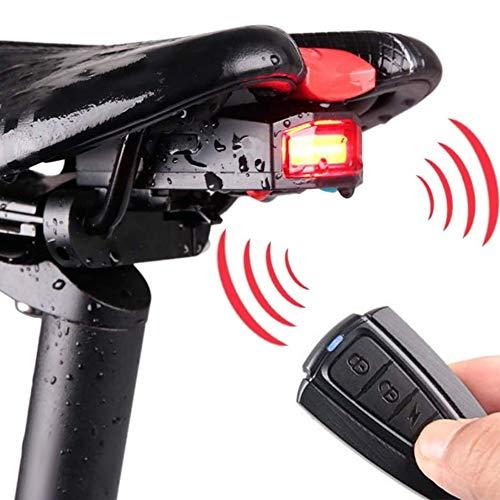 Keyohome Fahrradalarm Rücklicht, Kabellos Intelligent Fahrrad Rücklicht Diebstahlschutz Lampe Fahrrad Alarm Rücklicht USB Aufladbar Rücklicht,Wasserdicht und Fernbedienung