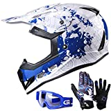 GLX Unisex-Child GX623 DOT Kids Youth ATV Off-Road Dirt Bike Motocross...