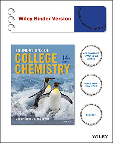Foundations of College Chemistry 14e Binder Ready Version + WileyPLUS Registration Card