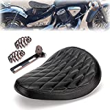 triclicks sillín Moto Vintage marrón para Bobber/Chopper/Sportster/Custom Muelles/Soporte Kit