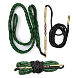 IIET .22 Cal 223 Cal 5.56mm Bore Snake, Bore Cleaning for .308Cal 380Cal 7.62mm 9mm 12GACal Rifle Pistol or Shotgun Gun Bore Cleaner with Bronze Brushes Rod - Cleans in One Quick Pass Gun Bore Snake