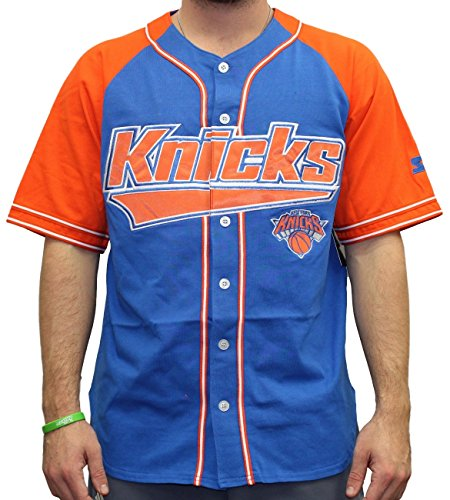 Starter New York Knicks NBA Men's Double Play Baseball Jersey