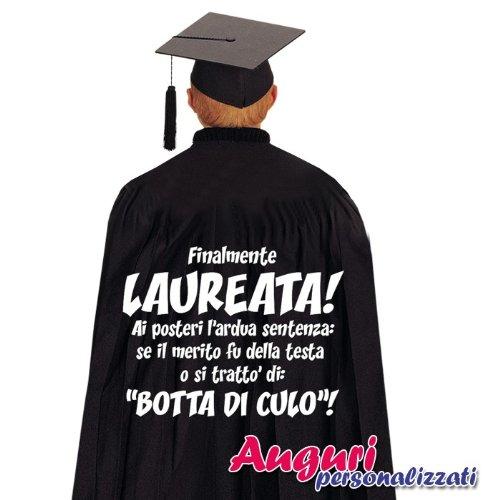 Bombo Mantello di Laurea Regalo Originale e Divertente Finalmente laureata