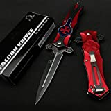 Falcon 8' Tactical Style Cross Folding, Pocket Knife for Fishing, Camping, Cutting Rope and Everyday Uses
