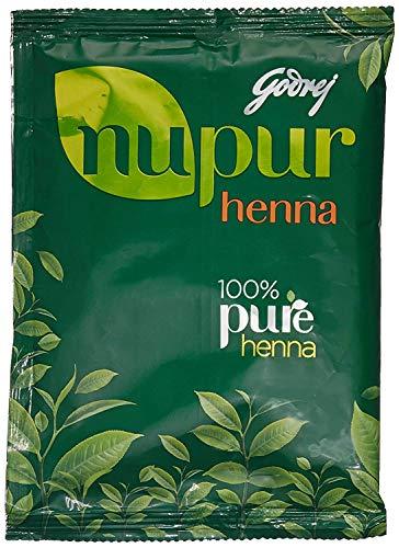 Godrej Nupur Mehendi Henna Pulver 9 Kräuter-Mischung, 150-Gramm (2er-Pack)