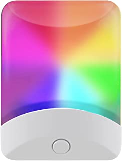 GE 34693 Changing LED Night Light, White & Vibrant Color Modes, Plug-in, Dusk-to-Dawn Sensor, Energy Efficient, UL-Certifi...
