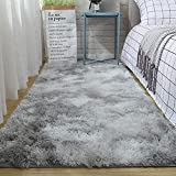 WIYI Ultra Soft Fluffy Area Rugs for Bedroom, Fuzzy Shag Rug Faux Fur Non-Slip Living Room Carpets,Luxury Plush Rug for Kids/ Baby /Girls Room and Nursery -2x3 Feet (Light Grey)