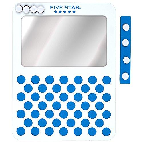 Five Star Magnetic Mirror & Push Pin Board Locker Organizer, 6 x 8-Inches, Blue (73533)