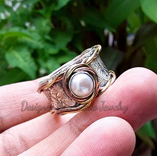 Peach moonstone ring,Gemstone ring,Birthstone ring,Handmade ring,Statement ring,Boho ring,Gemstone silver ring,silver ring,